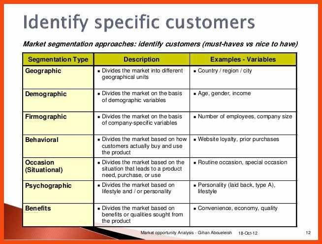market analysis example | program format
