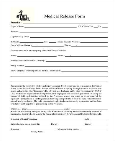 Medical Release Form Samples - 9+ Free Documents in Word, PDF
