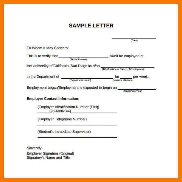 Employment Letter Example. Fast Online Help , Letter Of Employment ...