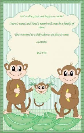 Free Printable Monkey Baby Shower Invitations – gangcraft.net