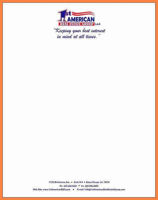 Letterhead Examples. Obtain A Professional Look For Your Office ...
