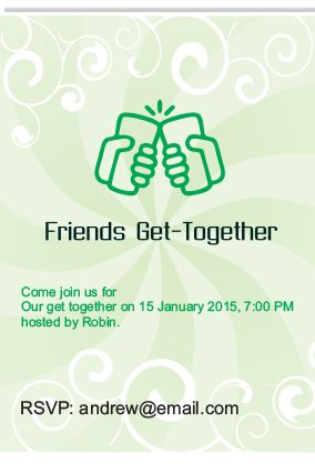Get Together Invitation - Get Together Invitation Card Printing ...