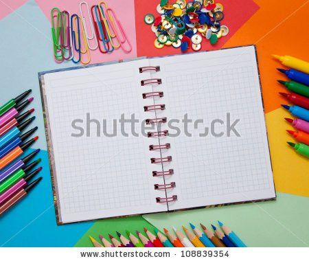 Colored Striped Markers Pens Isolated On Stock Photo 101562691 ...