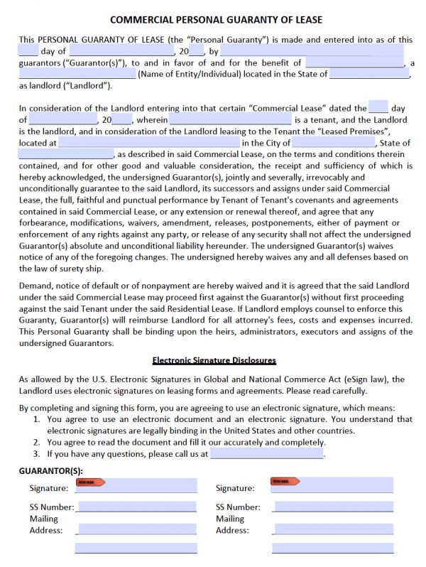 Free Commercial Rental Lease Agreement Templates | PDF | Word
