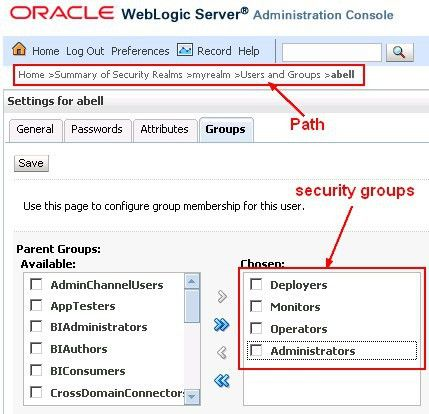 Weblogic - Administration Console [Gerardnico]