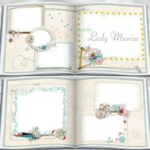 baby photo album psd template, childrens psd photobook - Free download