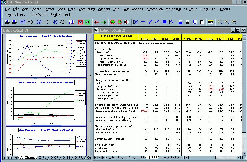 Screen Shot Business Plan Software, Template, Financial ...