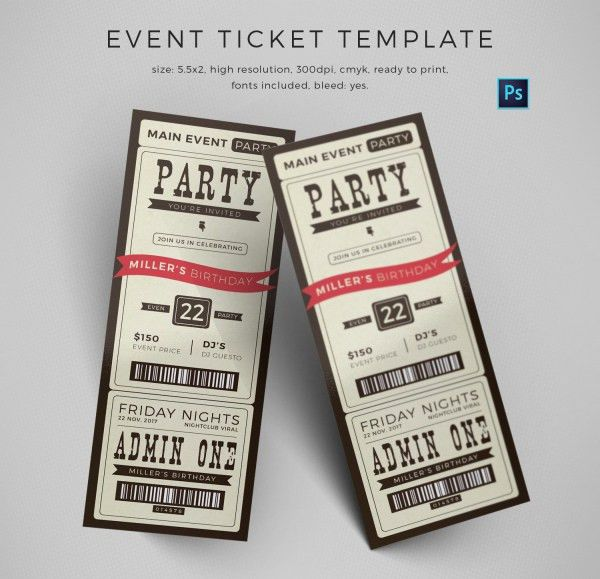 13+ Event Ticket Templates | Free & Premium Templates