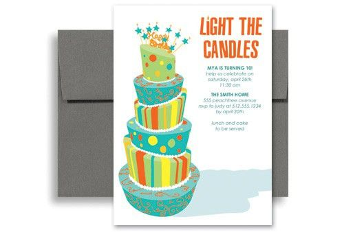 Customizable Template Birthday Invitation Design 5x7 in. Vertical ...