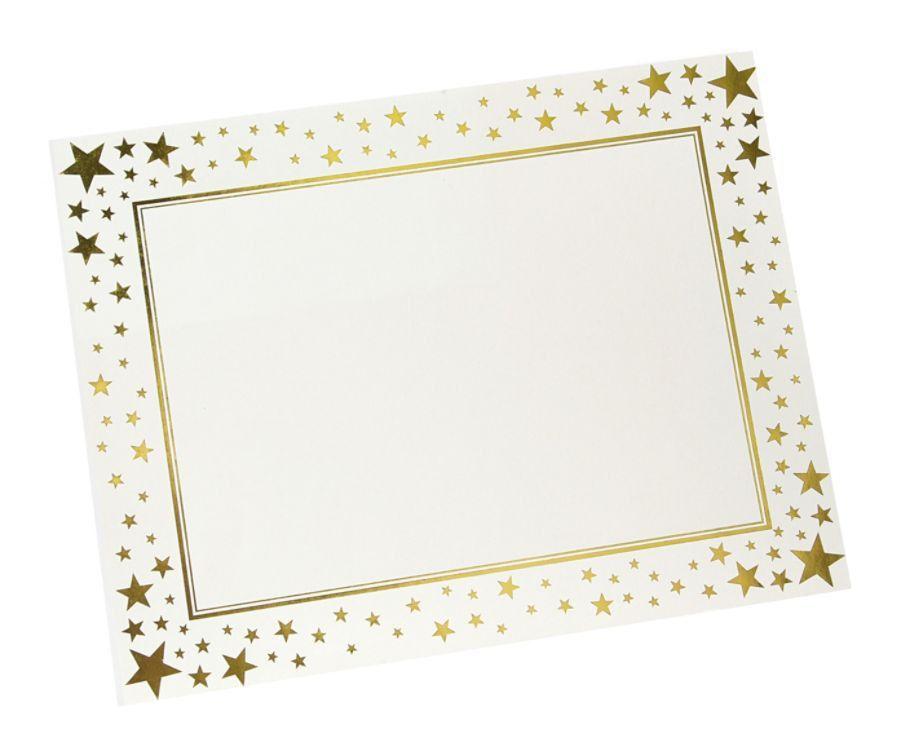 Gartner Studios Award Certificate 8 12 x 11 Gold Foil Stars Pack ...