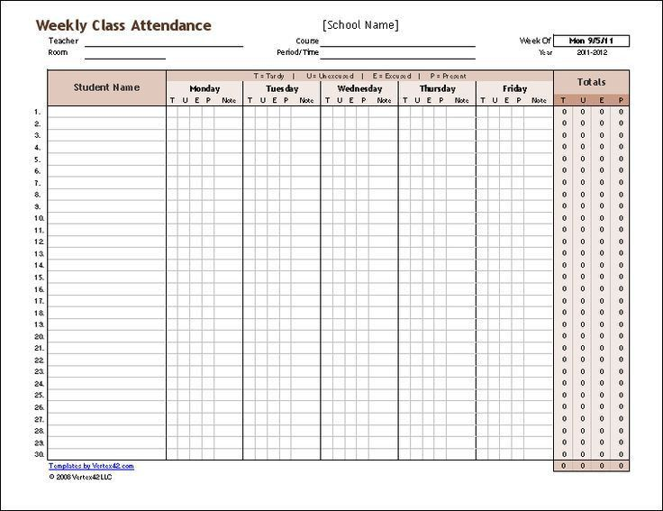 The 25+ best Attendance register ideas on Pinterest | Attendance ...