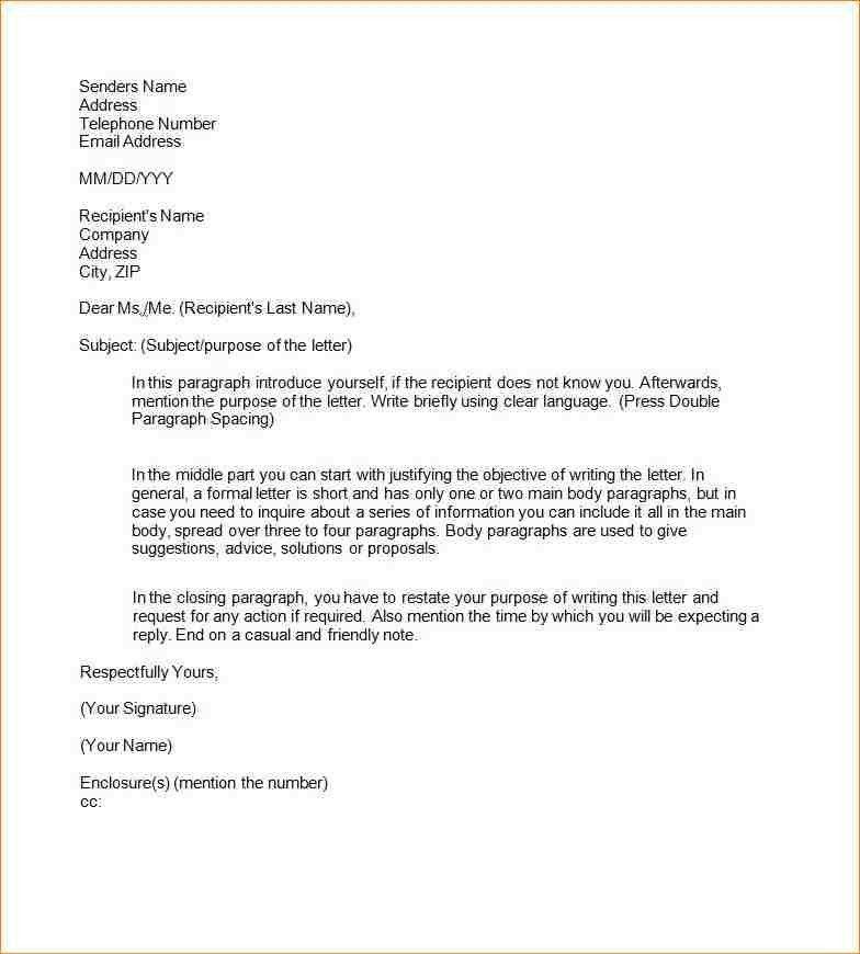 4 Business Letter Template Word Sop Templates Pdf Formal Letter ...