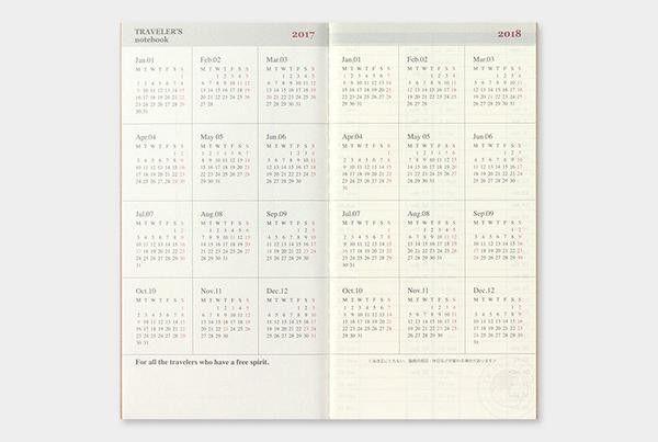 2017 Weekly + Memo Calendar Refill - Regular