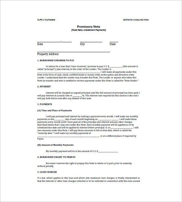 10+ Loan Promissory Note Templates – Free Sample, Example, Format ...