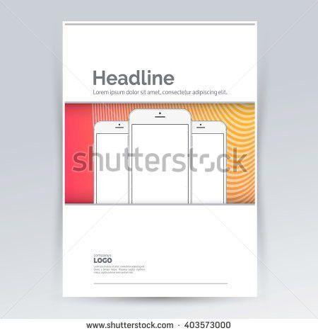 Brochure Design Template Smartphone Advertising Creative Stock ...
