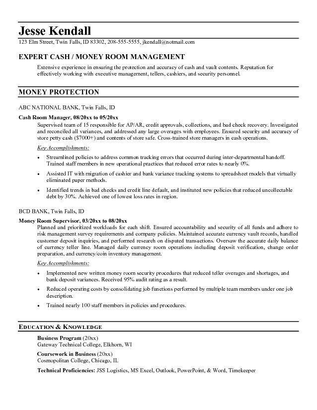 teller supervisor resume professional bank teller supervisor