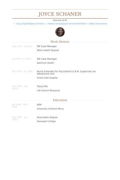 Rn Case Manager Resume samples - VisualCV resume samples database