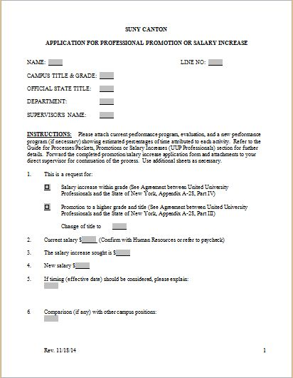 Salary Increase Request Format Template | Document Templates