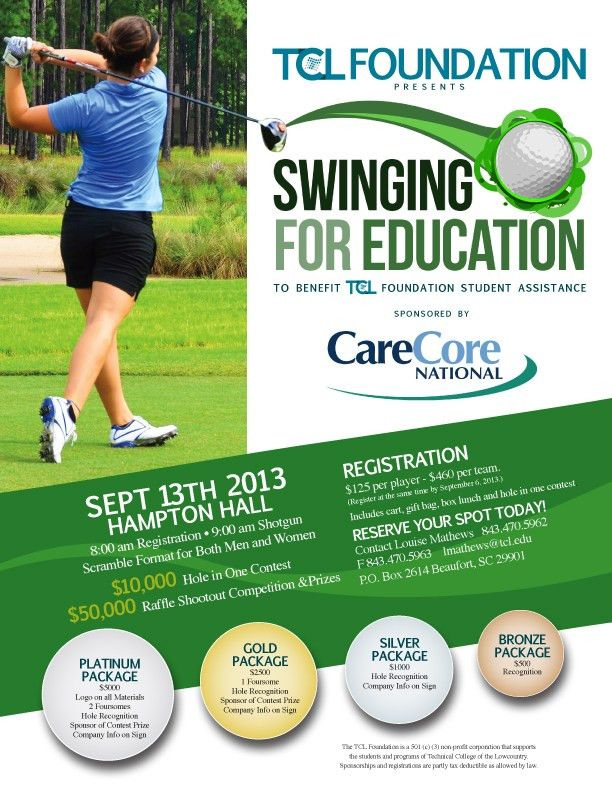 golf tournament flyer - simple | Golf Tournament Poster Ideas ...