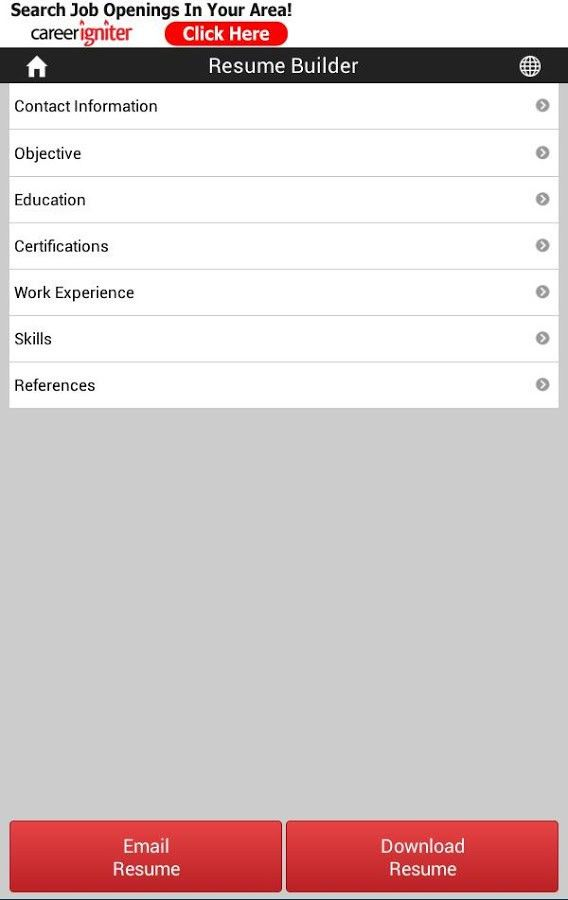 Career Igniter Resume Builder - Android Apps on Google Play