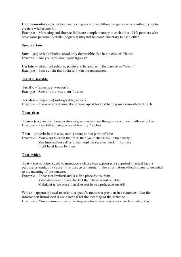 Written communication base document