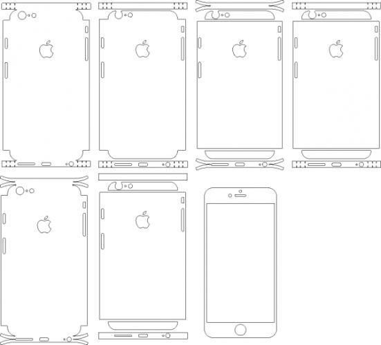 Download Template APPLE iPhone 6 plus & 6s plus (Skins). Buy for ...