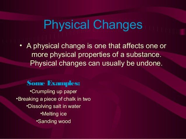 Obj 2 chemical and physical change
