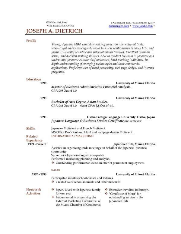 Resume Templates Word 2013. Resume Templates Open Office Resume ...