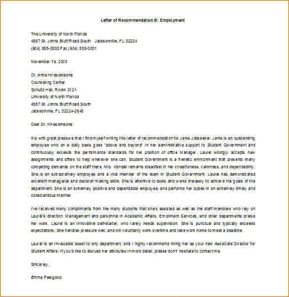 11+ job recommendation letter sample | academic resume template