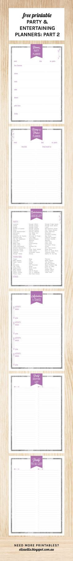 FREE} Party Planner Printable | Free printable party, Party ...