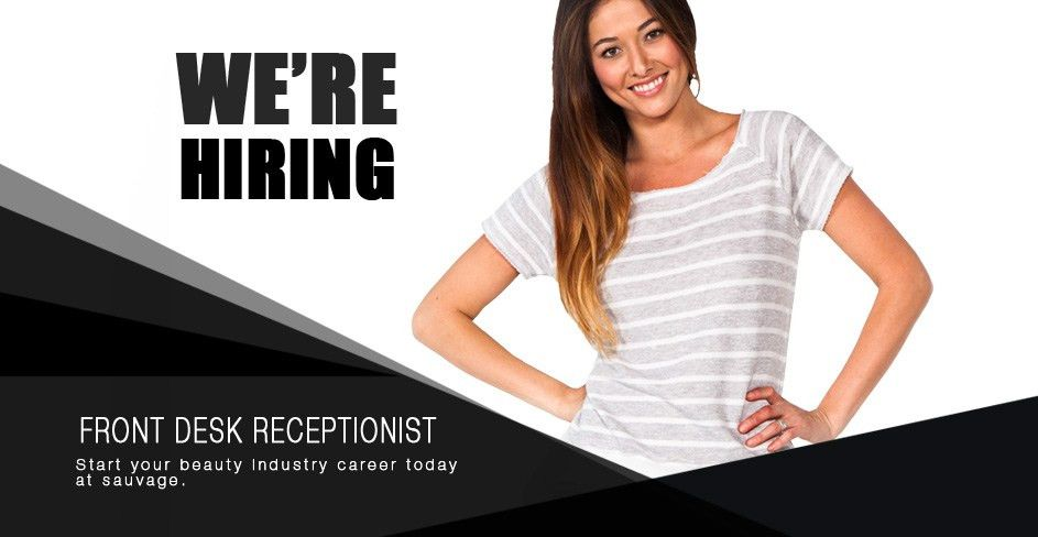 Salon Spa Front Desk Receptionist Jobs Available We Are Hiring ...