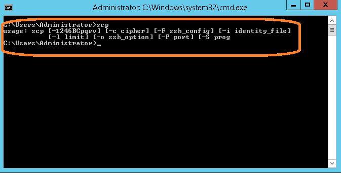 SCP copy windows local file to linux remote folder - Server Fault