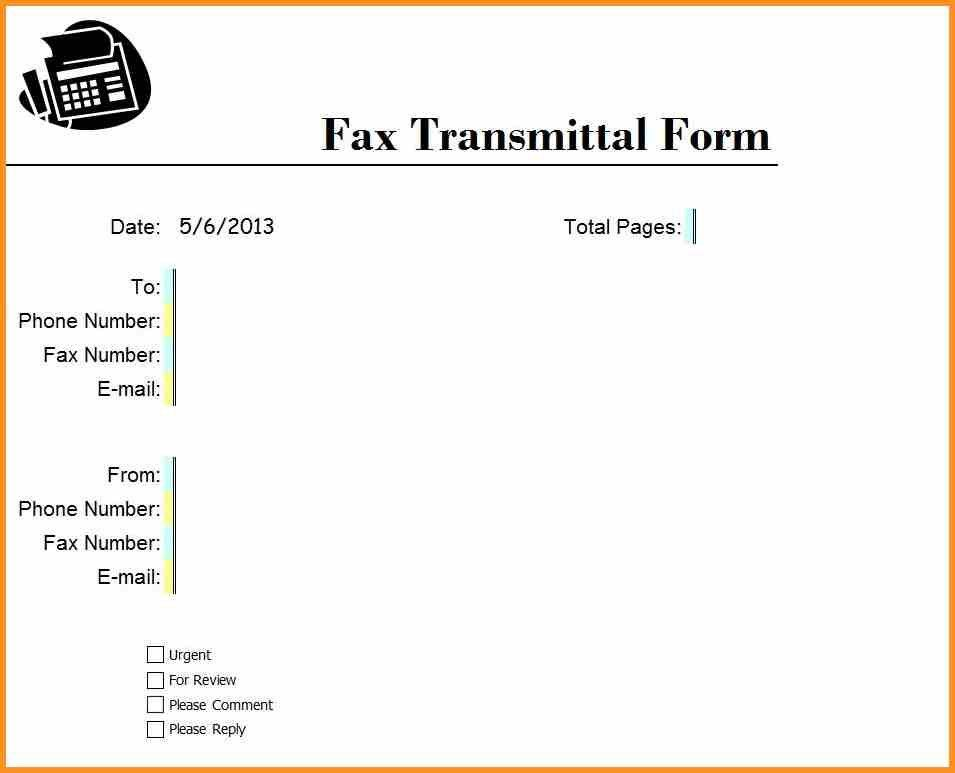 6+ business fax template | cook resume