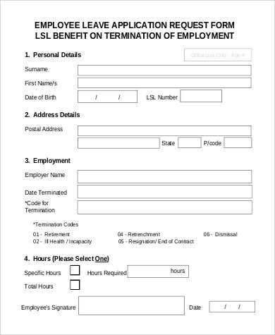 Superb Sample Employment Request Form   9+ Examples In PDF