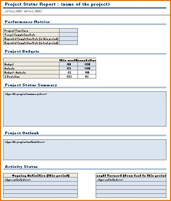 5+ project status report template | teknoswitch