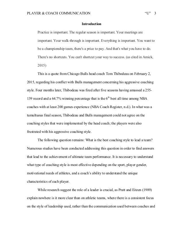 Communication Research Paper Sample