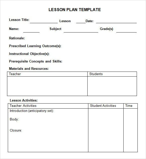 Sample Weekly Lesson Plan - 7+ Documents In PDF, Word