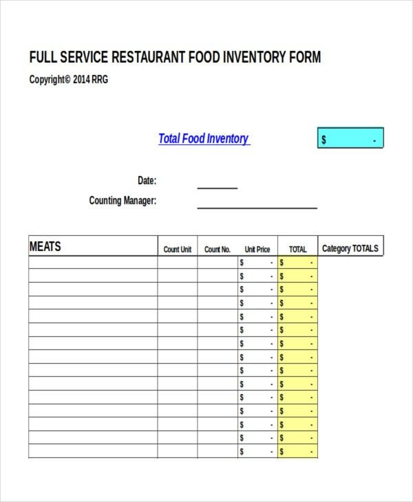17+ Inventory Templates - Free Sample, Example, Format | Free ...