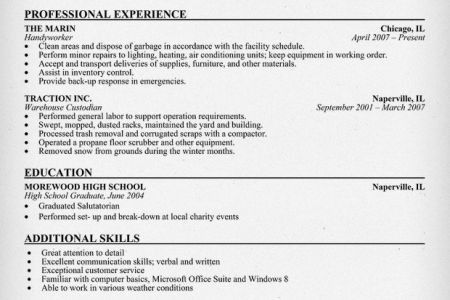 building maintenance worker resume maintenance worker resume