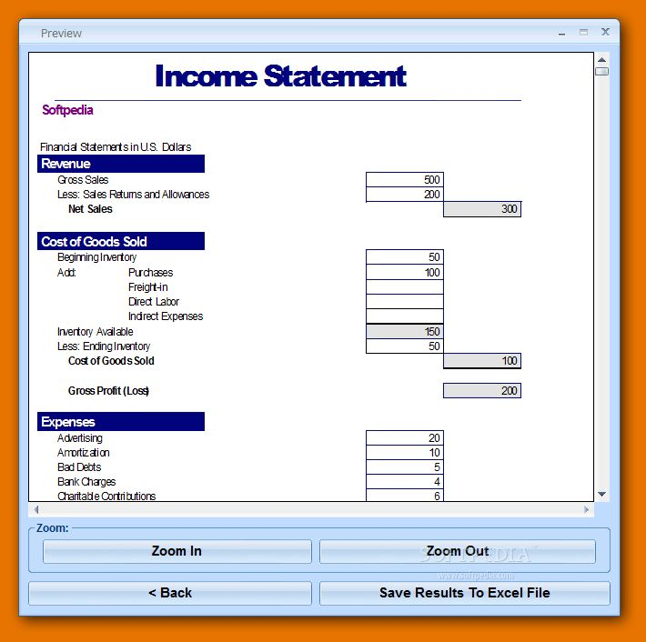 5+ excel income statement template | Itinerary Template Sample