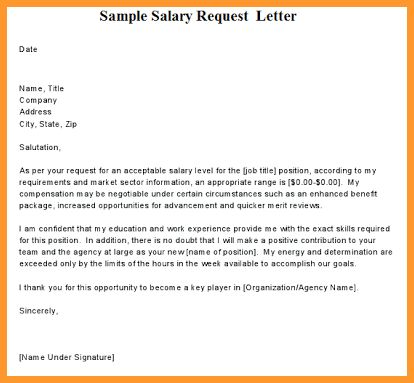 SALARY PROPOSAL TEMPLATE | letter format mail