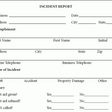 Theft Incident Report Template Archives - Word Templates