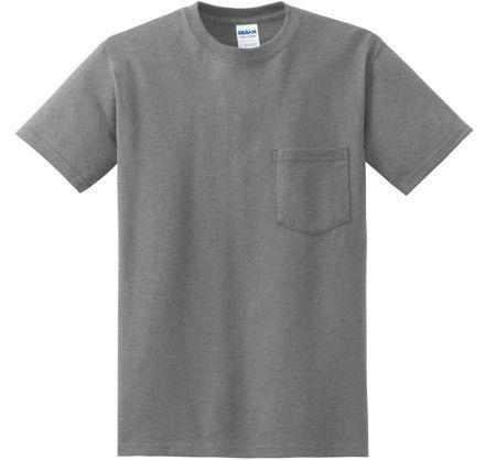 Customize Gildan Heavyweight Ultra Cotton Adult Pocket T-shirts Mens
