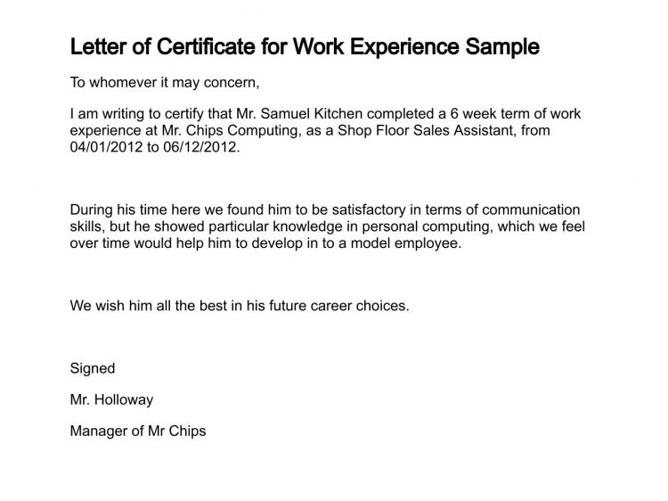 Sample Format Of Request Letter For Certificate Employment ...
