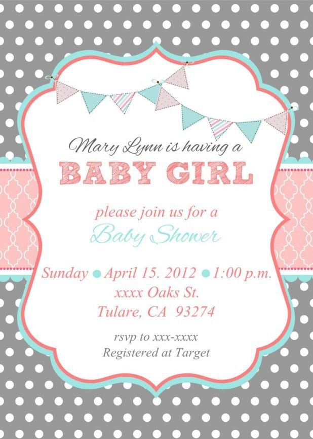 Baby Girl Shower Invitation Wording | christmanista.com