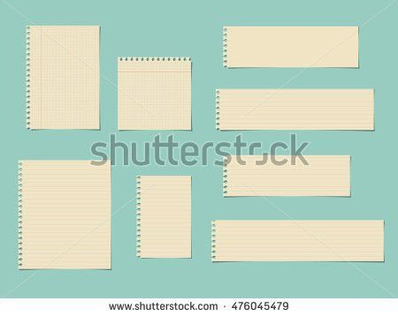 Pieces Cut Yellow Squared Ruled Notebook Stock Vector 476045479 ...