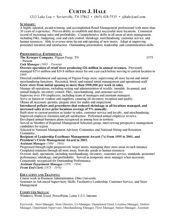 job resume grocery store grocery store stock clerk resume example ...