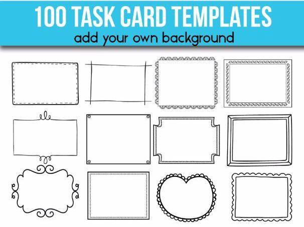100 Task Card Templates EDITABLE Flash Card Templates by ...