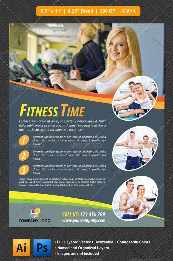Fitness Flyer by barisintepe | GraphicRiver