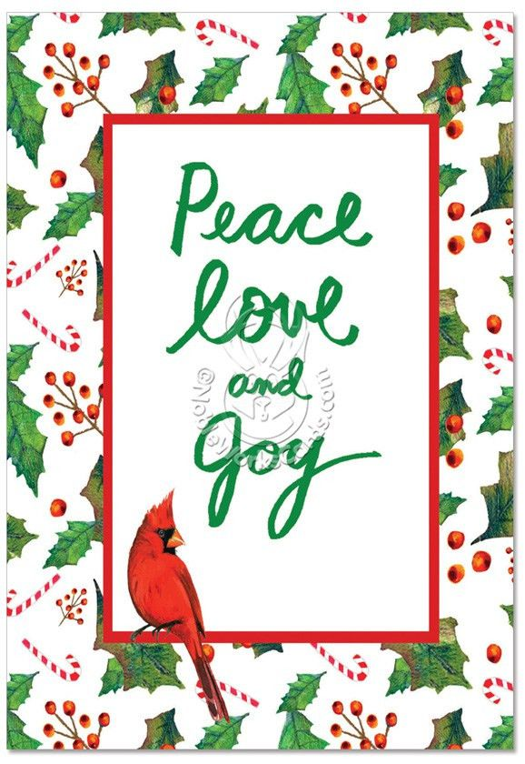 Christmas Words & Birds Nobleworks By Design Christmas Greeting ...